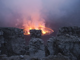 A Fiery Lava Lake in Nyiragongo's Crater