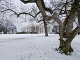 Snow on the White House Lawn
