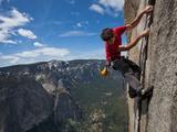 A Climber Grips an Expanse of El Capitan