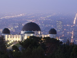Dawn at Los Angeles and the Griffith Observatory from Mount Hollywood