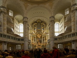 Inside the Luteran Krauenkirche  Church of Our Lady