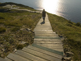Hiking on Trail at North End of Cape Breton Highlands National Park