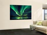 Aurora Borealis over Tjeldsundet in Troms County  Norway