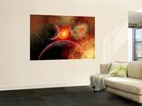Artist' Concept Illustrating the Stellar Explosion of a Supernova