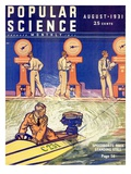 Front cover of Popular Science Magazine: August 1  1931