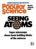 Front cover of Popular Science Magazine: April 1  1989