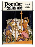 Front Cover of Popular Science Magazine: April 1  1929
