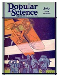 Front Cover of Popular Science Magazine: July 1  1928