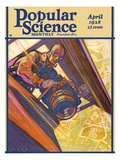 Front Cover of Popular Science Magazine: April 1  1928