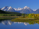 Teton Mountain Range Reflected in the Snake River