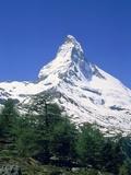 Matterhorn  with snow covered peak  Switzerland  Zermatt