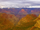 Clouds Over Grand Canyon and Buttes Papier Photo par John Eastcott & Yva Momatiuk