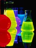 Laser Dyes in Flasks Papier Photo par Charles O'Rear