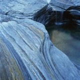 Strata in Rock Formation Along Verzasca River