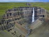 Hengifoss Waterfall