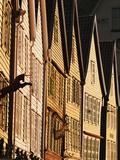 Row of Wooden Houses in Bryggen