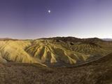 Moon over Zabriskie Point in Death Valley National Park
