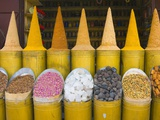 Mounds of spices in Marrakech medina