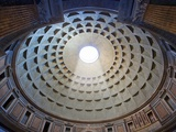 Interior of the dome on the Pantheon in Rome