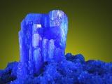 Blue Chalcanthite Mineral in Matrix