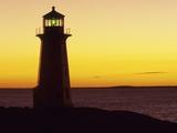 Peggy's Cove at Sunset  Nova Scotia  Canada