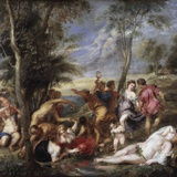 Bacchanal at Andros by Peter Paul Rubens