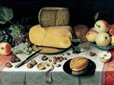 Natures mortes Papier Photo par Floris Claesz. Van Dyck