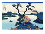 Lake Suwa in the Shinano Province Giclée par Katsushika Hokusai