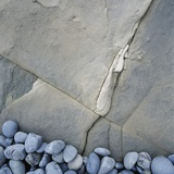 Gray Pebbles and Boulder