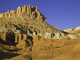 Castle and Fluted Wall Formations in Capitol Reef National Park