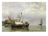 Fishermen near Rotterdam  Holland