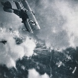 Aerial Combat on the Western Front  WWI Photogravure