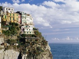 Houses on Sea Cliff in Manarola