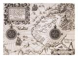 Map of Nova Zembla from Diarium Nauticum  seu vera descriptio trium navigationum admirandarum
