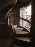 Spiral Stone Staircase in Convento de Cristo
