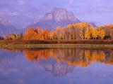 Oxbow Bend Reflecting Mount Moran