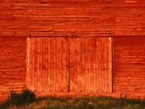 Detail of a Red Barn