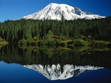 Mt Rainier Reflecting in Lake