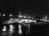 Night View Of Brooklyn Bridge