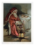 Illustration Entitled The New Picture Book Depicting a Visit from Santa
