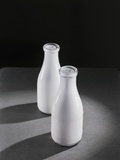 Two Quarts of Milk in Glass Bottles
