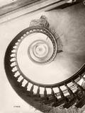 St. Louis Hotel's Winding Staircase Papier Photo par Bettmann