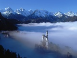 Neuschwanstein Castle Surrounded in Fog