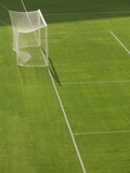 Goal and Net on Empty Soccer Field