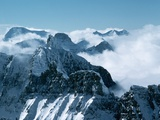 Clouds Among Peaks in a Vast Mountain Range