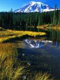Mount Rainier and Reflection Lakes