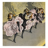 Four Girls Dancing Cancan