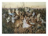 A Rabbit Among the Fairies Giclée par John Anster Fitzgerald