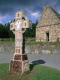 Celtic Cross at a Christian Monastery