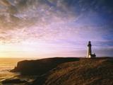 Sun Rising over Yaquina Head Lighthouse